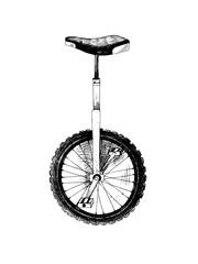 Papiers peints Velo Hand drawn monocycle