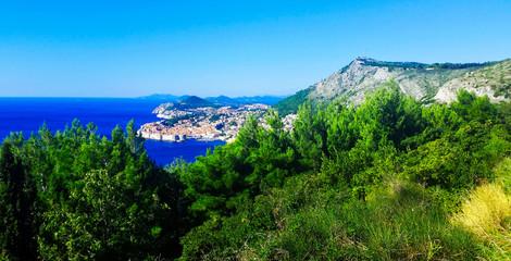 Panorama of Adriatic Sea and Dubrovnik - Dalmatia, Croatia