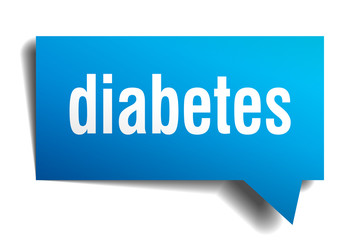 diabetes blue 3d speech bubble