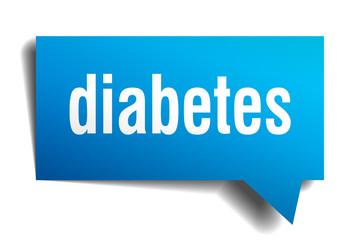 diabetes blue 3d speech bubble