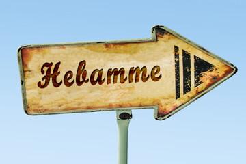 Schild 328 - Hebamme