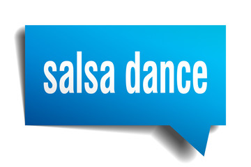 salsa dance blue 3d speech bubble