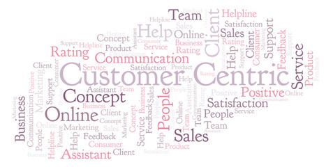 Customer Centric word cloud.