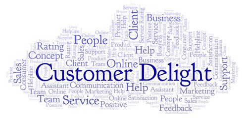 Customer Delight word cloud.