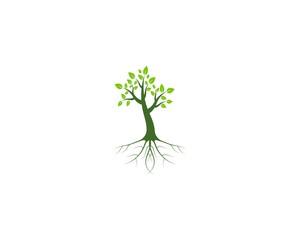 Tree icon logo design vector template