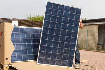 Solarplatten für grüne Energie