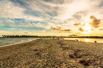 Scenic Sunset at Maracaipe Beach, near Porto de Galinhas Beach, Pernambuco, Brazil