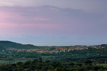 View Of Bari Sardo, Sardinia Italy
