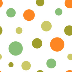Polka dot seamless pattern, vector