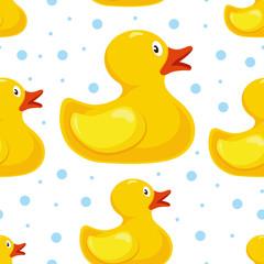 rubber duck pattern. bath children toy in water