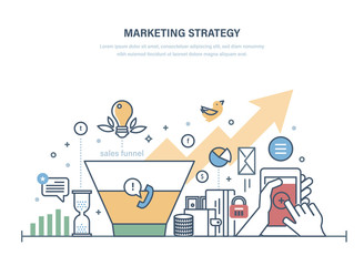 Marketing strategy, economic research of sales funnel. Management investment growth.