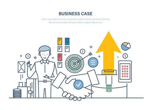 Business case, investment research, proposals. Analysis of costs, benefits, risks.
