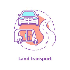 City transport concept icon