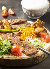 traditional cag kebab döner in turkey