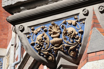 Floral architecture molding in Sweden