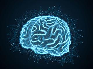 3D Illustration digital künstliche Inteligenz