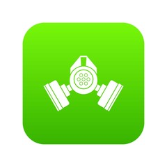 Gas mask icon digital green for any design isolated on white vector illustration
