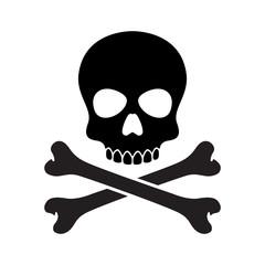 pirate skull vector Halloween icon logo bone ghost skeleton illustration clip art graphic
