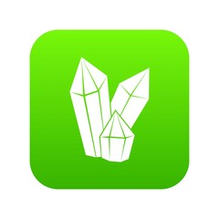 Diamonds icon digital green for any design isolated on white vector illustration