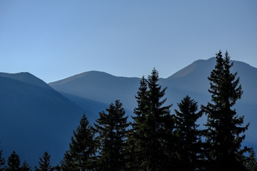 Aluminium Prints morning light rising in the mountains Tatra in Slovakia