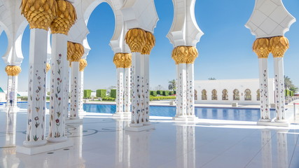 Canvas Prints Abu Dhabi Sheikh Zayed Grand Mosque timelapse in Abu Dhabi, the capital city of United Arab Emirates