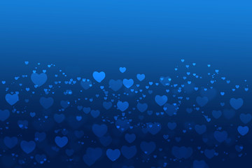Background blue With white Heart