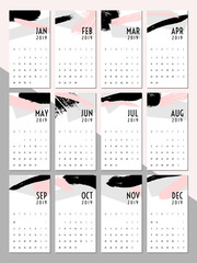 2019 Printable Calendar Template