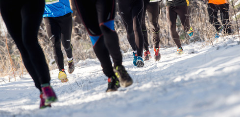 running in winter,  cross country runners