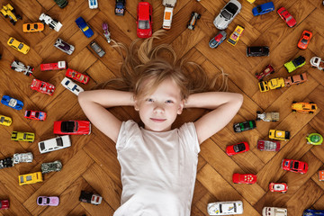 girl and toy car , dreams