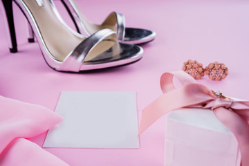 shoes and fashion background