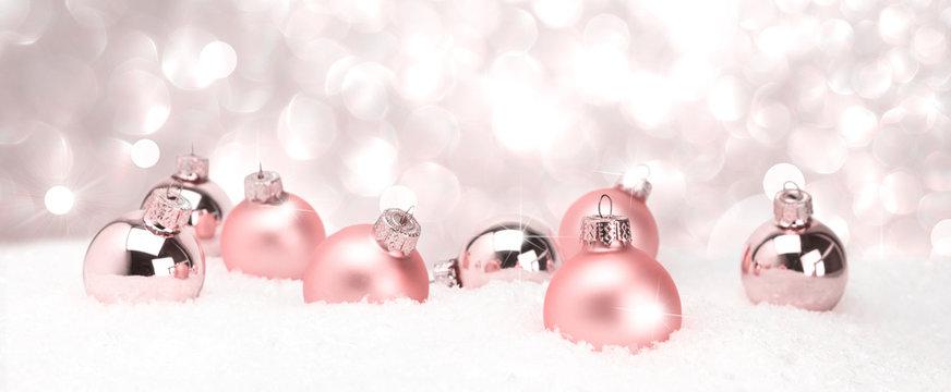 Weihnachtsschmuck im Bannerformat - Frohe Weihnachten