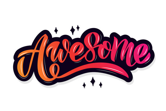 Awesome lettering typography
