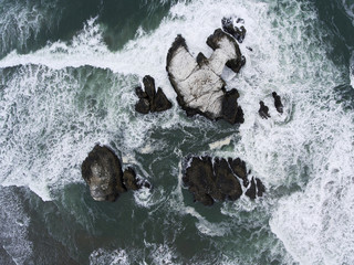 Aerial View of Seal Rocks