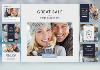 Winter Sale Social Media Posts