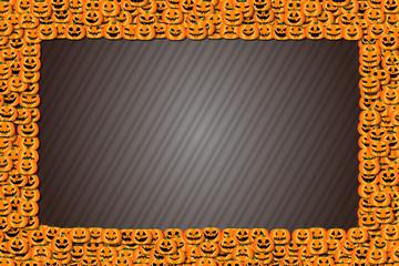 背景素材,フォトフレーム,ハロウィン,ジャックオーランタン,かぼちゃ,コピースペース,秋のイベント,