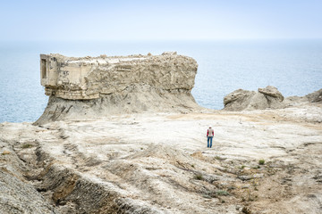 Excavated fortifications from the Second World War in Feodosia, Crimea