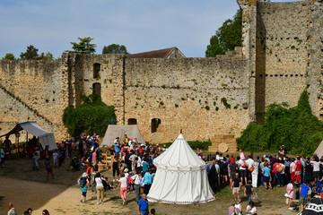 Chevreuse; France - september16 2018 : chateau de la Madeleine Wall mural