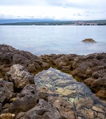 Rocky shore of the Adriatic