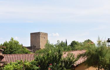 tower of San Martin del Castanar; Sierra de Francia Nature Reserve; Salamanca province; Castilla Leon; Spain