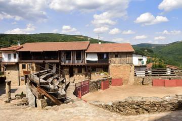 old Bullring of San Martin del Castanar, Sierra de Francia Nature Reserve, Salamanca province, Castilla Leon, Spain