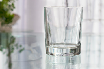 Empty Glass Short Tumbler for drinks. Mock-up