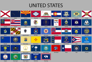 all Flags of the United States of America
