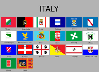 all Flags provinces of Italy