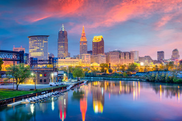 Wall Mural - Cleveland, Ohio, USA Skyline