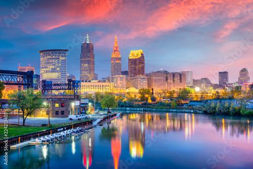 Wall mural Cleveland, Ohio, USA Skyline