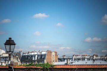 Toits de Paris et lampadaire, Montmartre