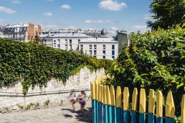 Rue pavée, Montmartre, Paris