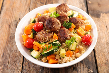 couscous, vegetable and meat