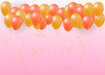 Background balloons.