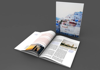 Red and White Portrait Book Layout